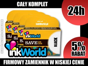 KOMPLET 4 TUSZY 364 INKWORLD DO HP - 364XL, KURIER, WYS. 24H!