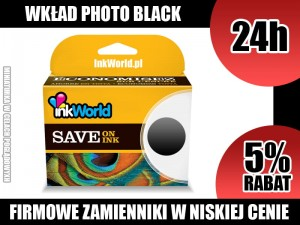 TUSZ INKWORLD CZARNY (FOTO BLACK) DO CANON CLI-551 XL BK, WYS. 24H!