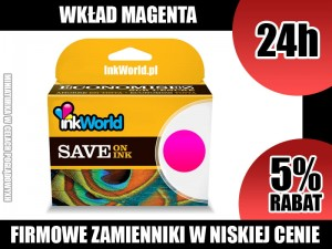 TUSZ INKWORLD 655XL CZERWONY (MAGENTA) DO HP 655 XL M, WYS. 24H!