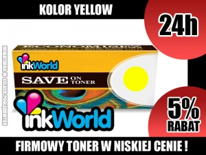 INKWORLD TONER YELLOW DO HP - 507A, CE402A, 6000 STRON, 100% NOWY