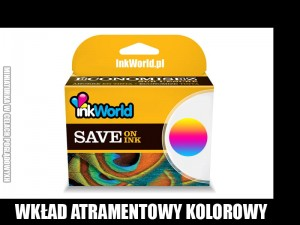 TUSZ INKWORLD KOLOROWY 302XL (COLOR) DO HP - 302 CMY