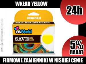 TUSZ INKWORLD 364 ŻÓŁTY (YELLOW) DO HP 364XL Y, KURIER, WYS. 24H!